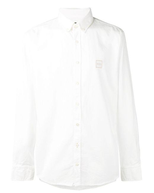 BOSS - White Classic Shirt for Men - Lyst