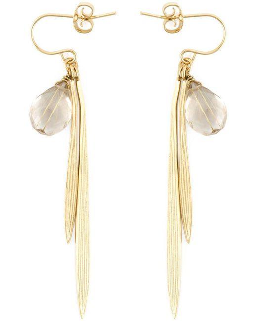 Wouters & Hendrix - White 'bamboo' Rutilated Quartz Earrings - Lyst