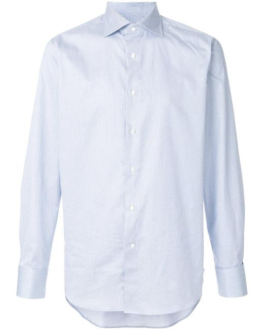 Canali | Black Striped Shirt for Men | Lyst