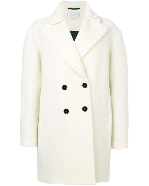 Carven | White Classic Fitted Coat | Lyst