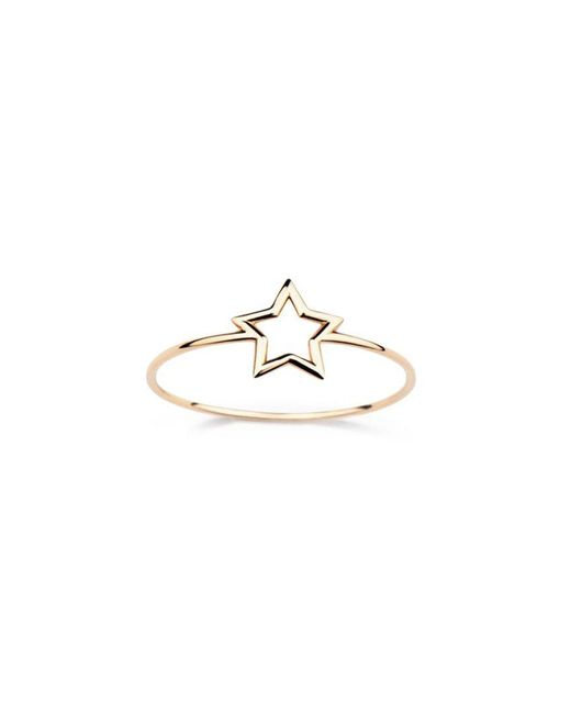 Aurelie Bidermann - Metallic Thin 'star' Ring - Lyst