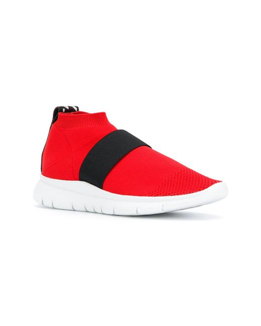 Joshua Sanders pull-on mesh sneakers - Red farfetch rosso