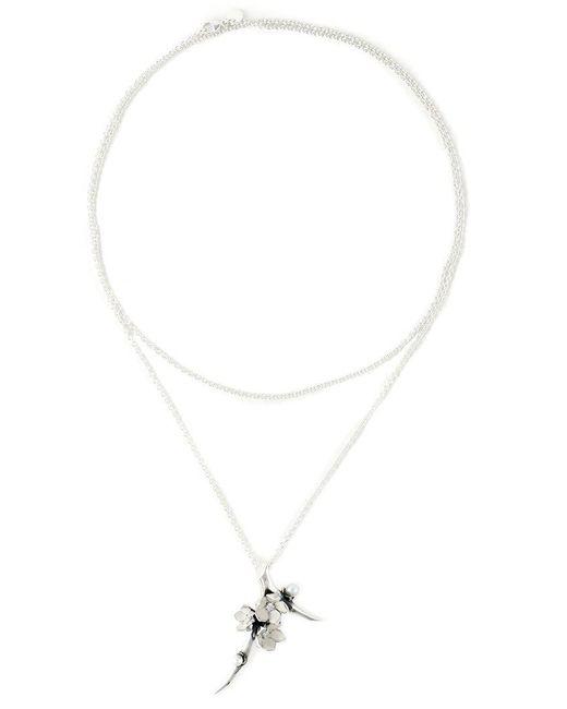 Shaun Leane - Metallic 'cherry Blossom' Diamond Long Pendant Necklace - Lyst
