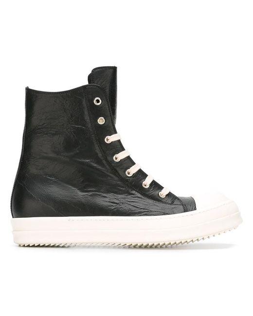 Rick Owens | Black Hi-top Sneakers for Men | Lyst