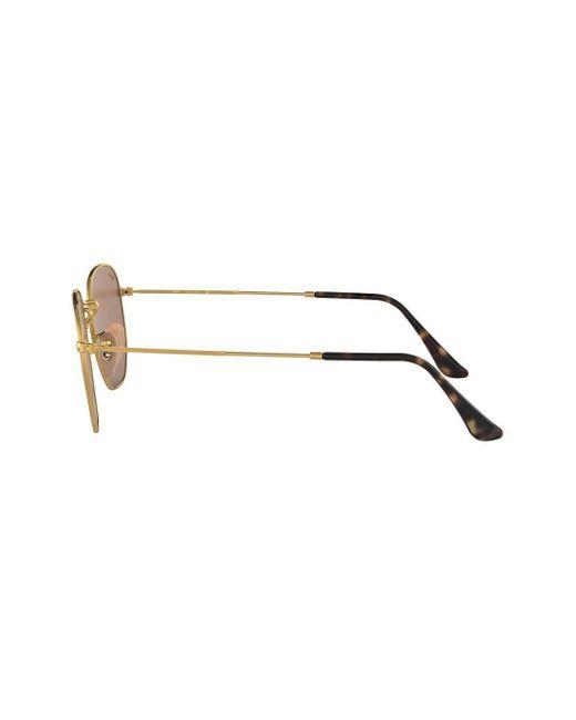 cf648004f0 ... Ray-Ban - Metallic Hexagonal Flat Sunglasses for Men - Lyst ...