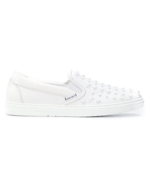 Jimmy Choo - White Grove Sneakers for Men - Lyst