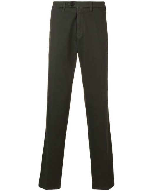 Canali - Green Straight-leg Trousers for Men - Lyst