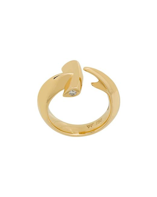 Stephen Webster - Metallic 18kt Yellow Gold Hammerhead Diamond Ring - Lyst