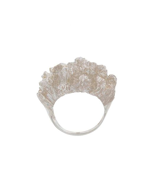 Niza Huang - Gray Under Earth Cocktail Ring - Lyst