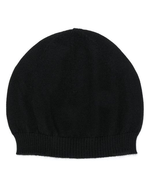 Rick Owens - Black Cashmere Knitted Beanie - Lyst