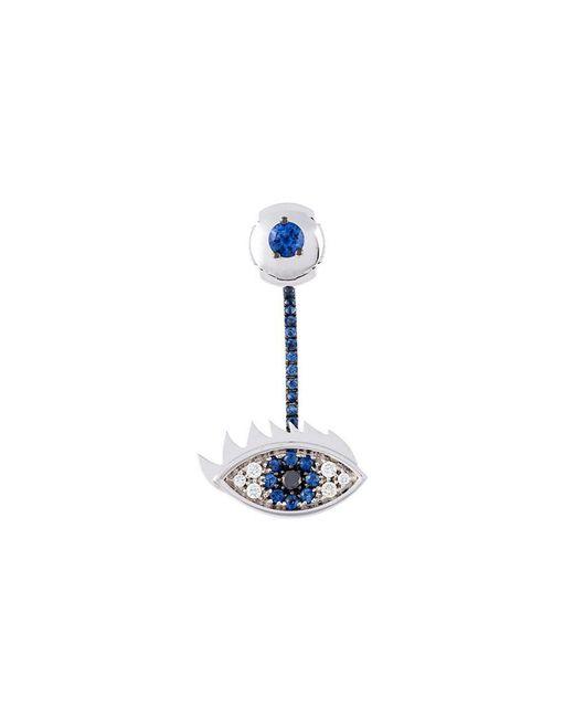 Delfina Delettrez - Metallic 'eyes On Me' Diamond And Sapphire Earring - Lyst