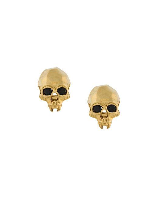 Kasun - Metallic Vampire Skull Earrings - Lyst