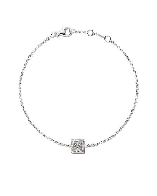 De Beers - Metallic 18kt White Gold My First Aura Princess Cut Diamond Bracelet - Lyst
