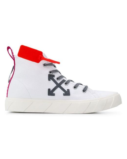 Lyst - Off-White c o Virgil Abloh Mid-top Sneakers in White for Men 63c6160bca6
