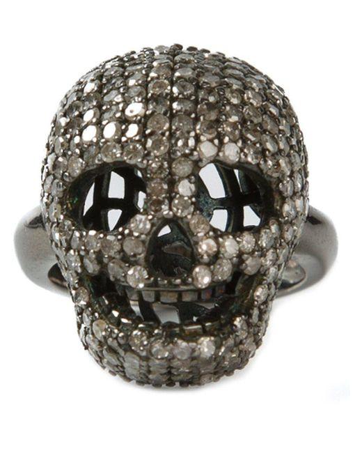 Christian Koban - Gray 'skull' Diamond Ring - Lyst