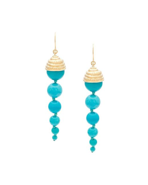 Aurelie Bidermann | Blue Long 'lakotas' Earrings | Lyst