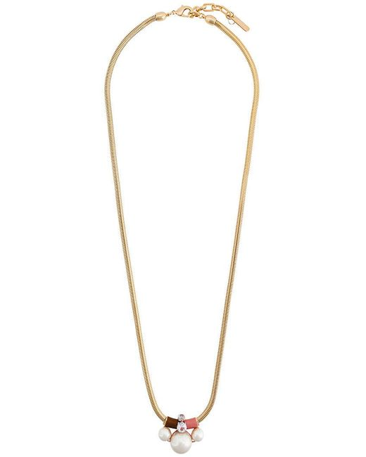 Rada' - Metallic Faux Pearl Pendant Necklace - Lyst