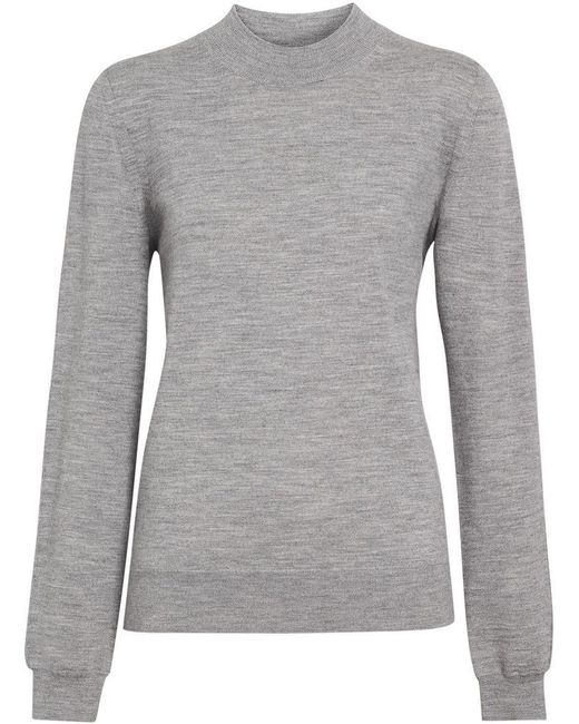 f9334998cd8 Burberry - Gray Merino Wool Crew Neck Sweater - Lyst ...