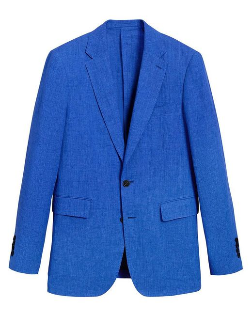Burberry - Blue Soho Fit Linen Tailored Jacket for Men - Lyst