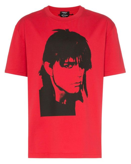 CALVIN KLEIN 205W39NYC Red X Andy Warhol Face Print T-shirt for men