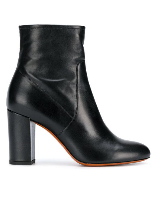 Santoni - Black Ankle Boots - Lyst