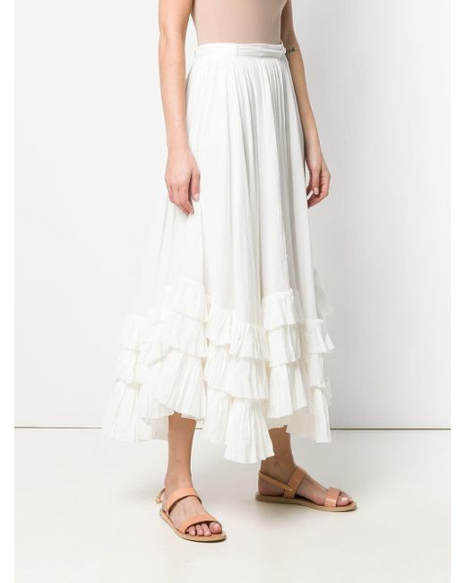 a879af355ae4a ... Polo Ralph Lauren - White Belted Long Skirt - Lyst ...