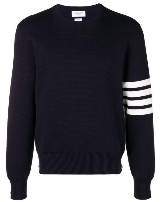 Thom Browne - Blue Bestickter Pullover for Men - Lyst