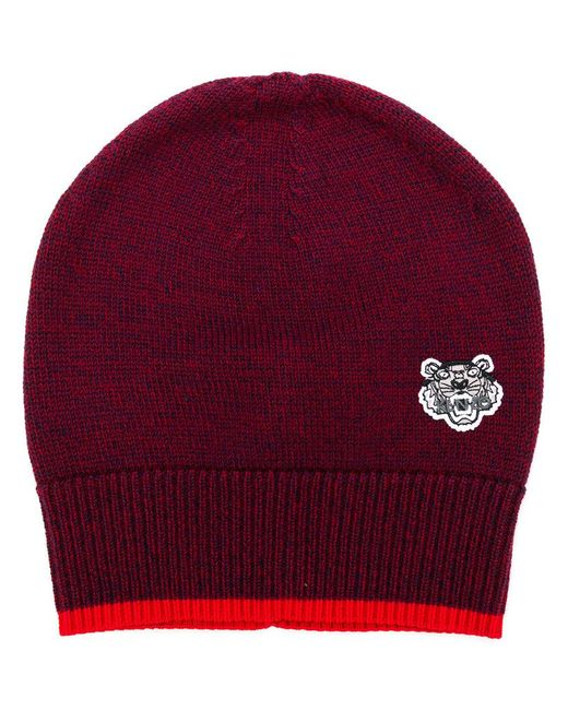 KENZO - Red Tiger Patchwork Hat - Lyst