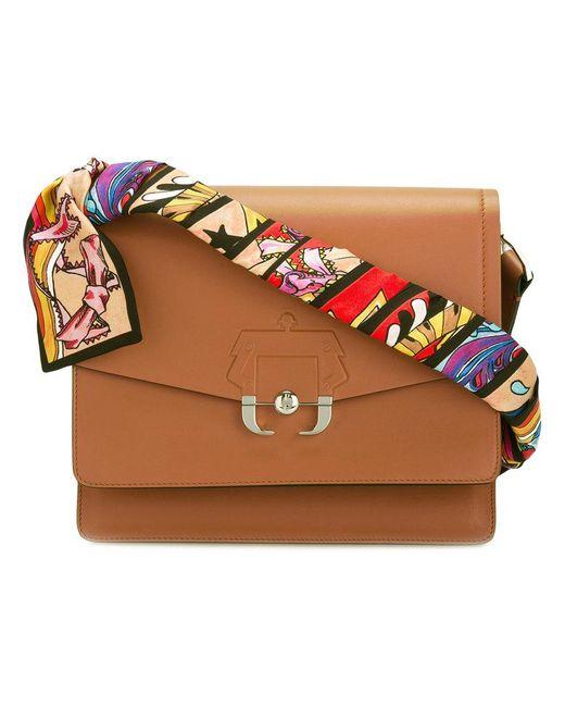 Paula Cademartori - Brown Printed Strap Shoulder Bag - Lyst