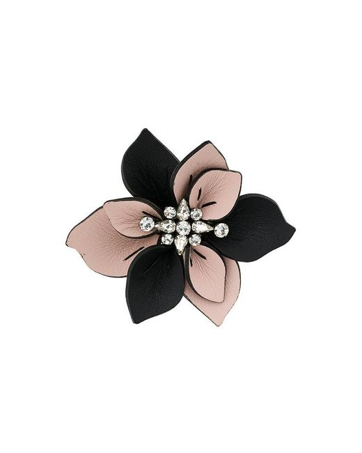 Marni - Black Flower Brooch - Lyst