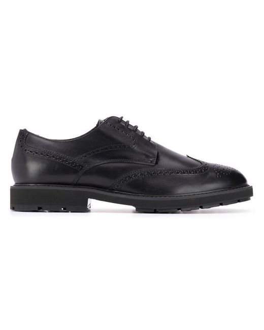 Tod's - Black Oxford-Schuhe mit Budapestermuster for Men - Lyst