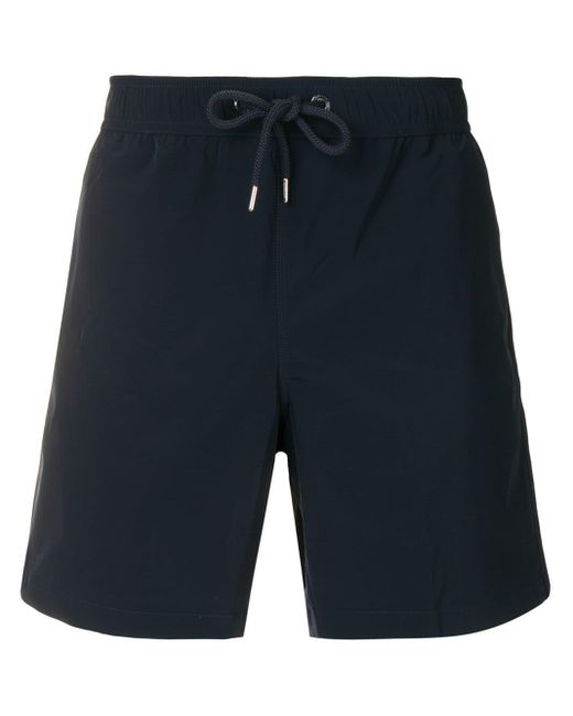 Moncler Blue Drawstring Swim Shorts for men
