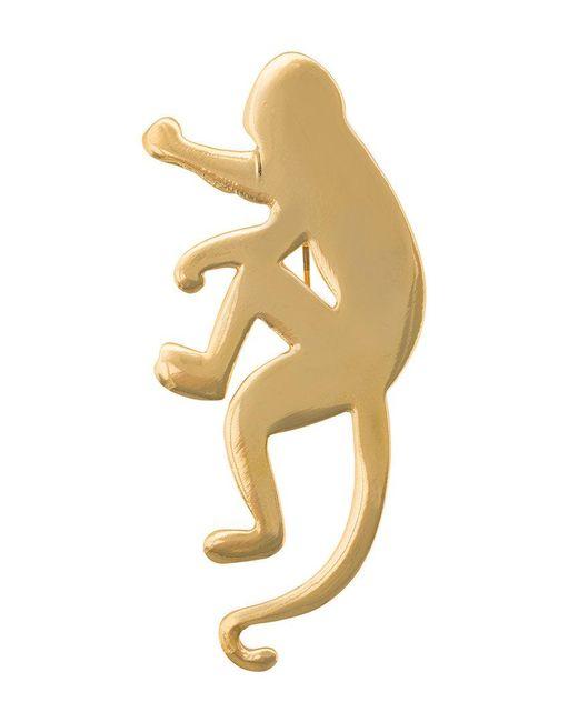 Oscar de la Renta - Metallic Monkey Brooch - Lyst