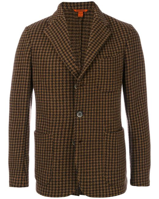 Barena - Brown Houndstooth Pattern Blazer for Men - Lyst
