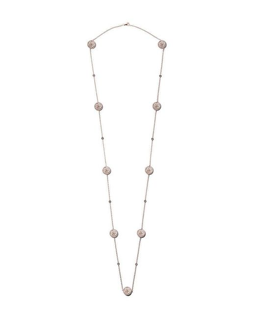 De Beers - Metallic 18kt Rose Gold Enchanted Lotus Mother-of-pearl Diamond Sautoir Necklace - Lyst