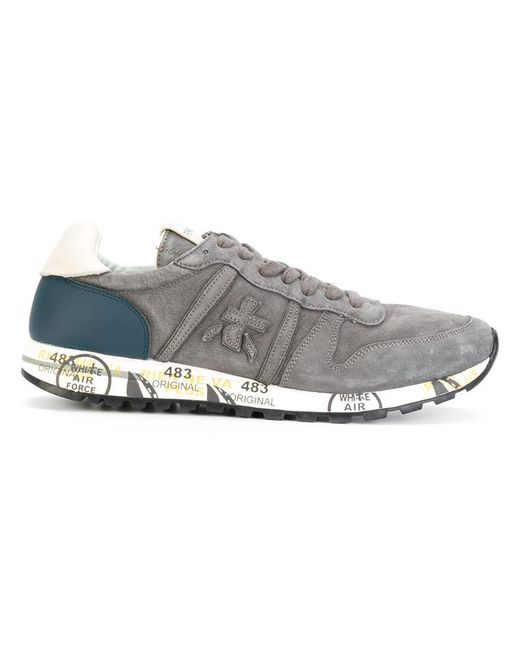 Premiata | Gray Panelled Sneakers for Men | Lyst