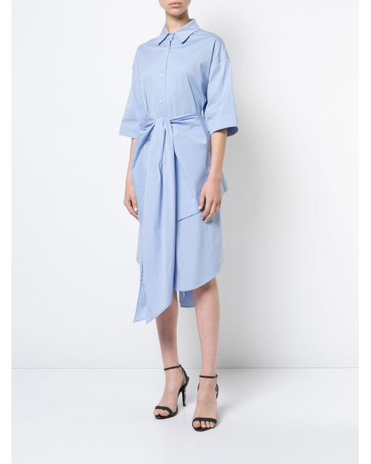 wrap detail dress - Blue Tome ewgpmPjboZ