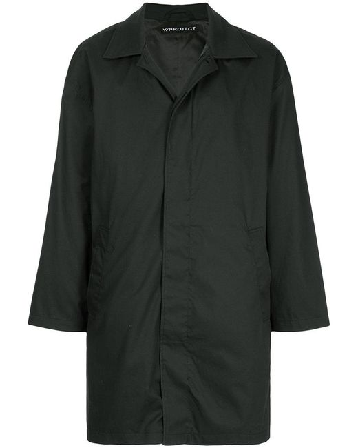 Y. Project - Black Concealed Front Coat for Men - Lyst
