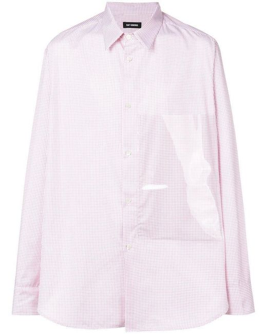 Raf Simons - Red Plastic Panel Shirt for Men - Lyst