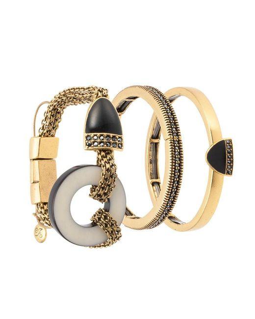 Camila Klein - Metallic Magnet Three Bracelts Set - Lyst
