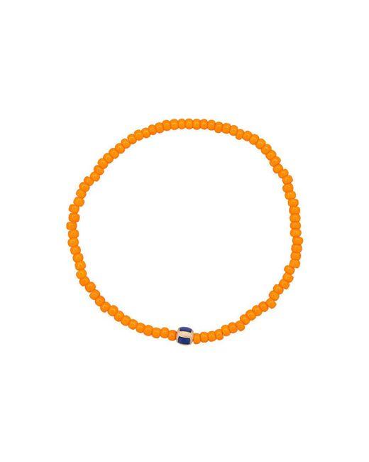 Luis Morais   Orange Enameled Stripe Beaded Bracelet   Lyst