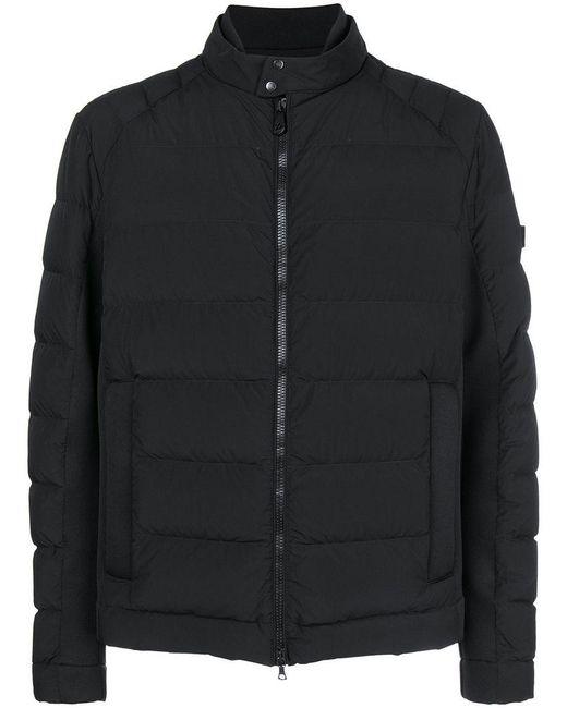 Peuterey - Black Zip Padded Jacket for Men - Lyst