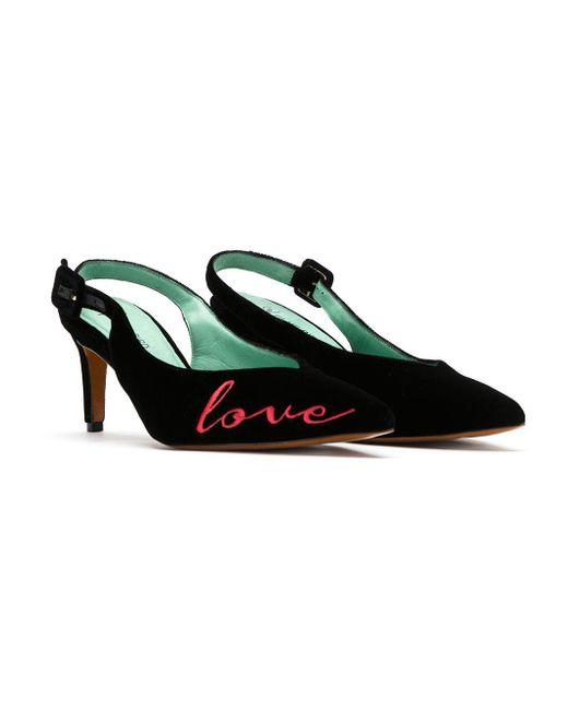 Bird Velvet Kills Lyst Love Slingback In Pumps Blue Shoes Black 67gybfYv