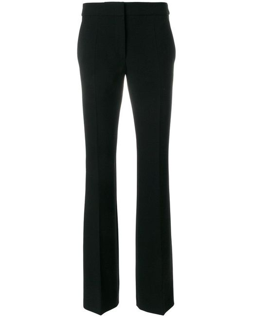 Moschino - Black High Waisted Flared Trousers - Lyst