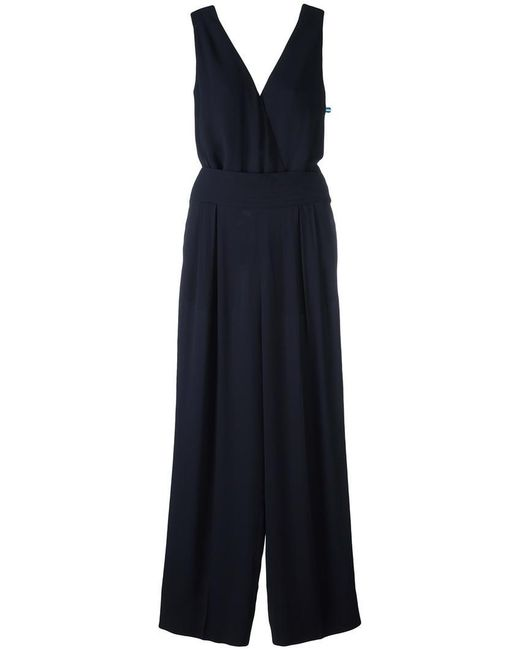 Maison Margiela - Blue Wrap-style Sleeveless Jumpsuit - Lyst