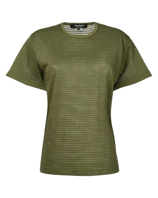 Junya Watanabe - Green Textured T-shirt - Lyst