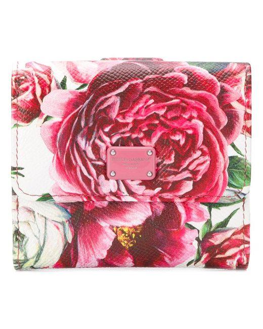 Impression Pivoines Petit Portefeuille - Multicolor Dolce & Gabbana yqUCxVo1Pu