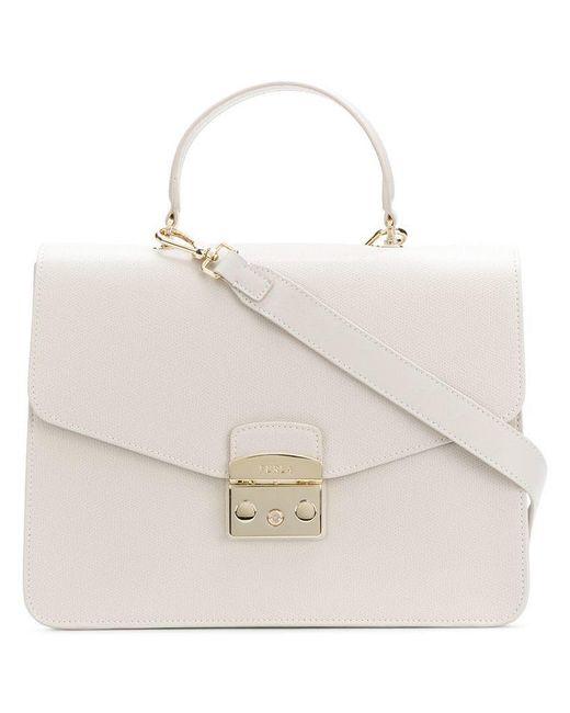 Furla - White Metropolis Crossbody Bag - Lyst