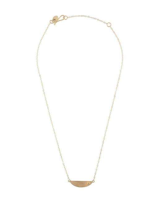 Melissa Joy Manning - Blue Mini Collar Necklace With Diamond Detail - Lyst