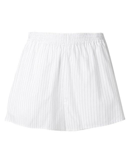MM6 by Maison Martin Margiela - White Pinstriped Shorts - Lyst